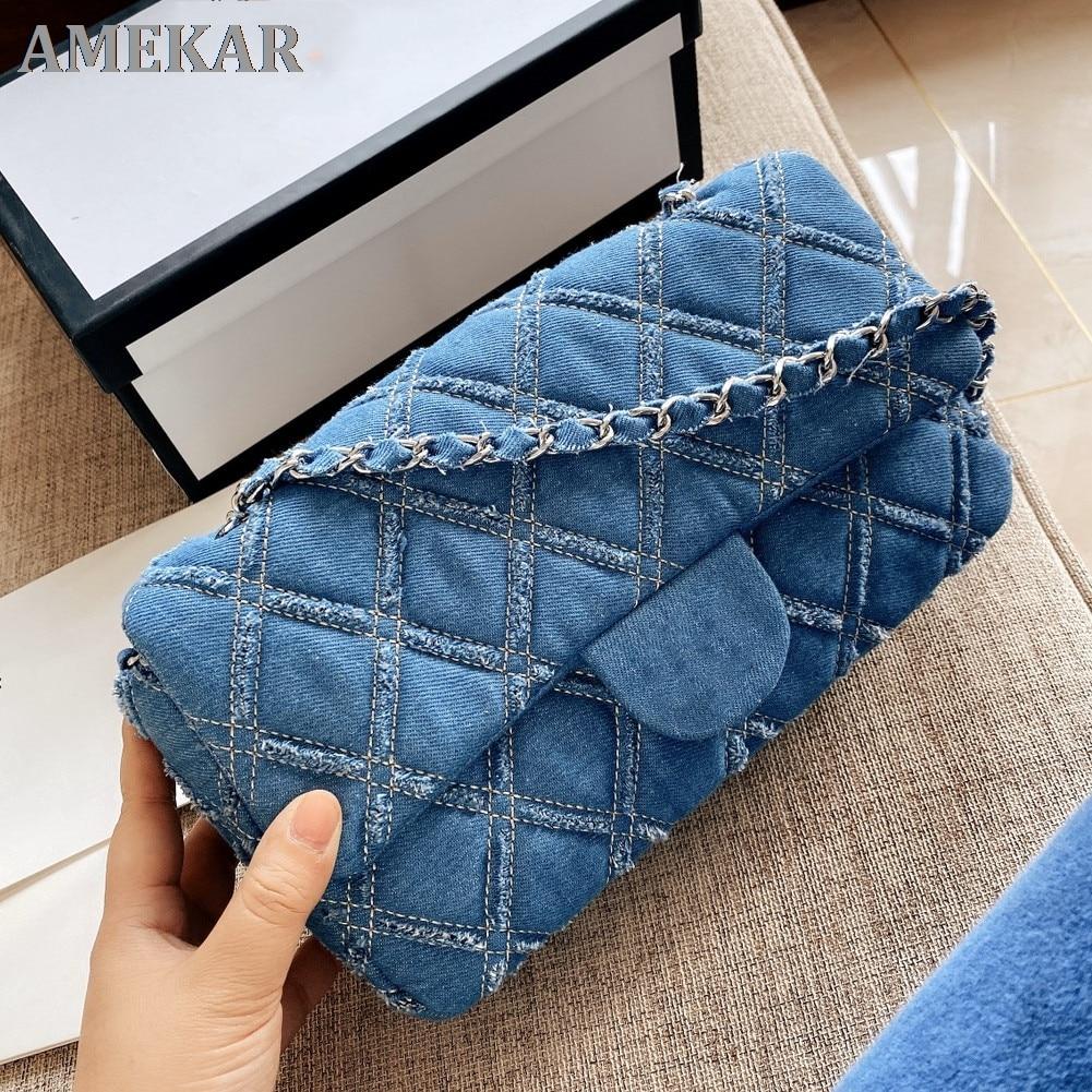 Designer fashion simple small square bag female designer handbag high quality chain mobile phone sho