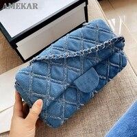 Designer fashion simple small square bag female designer handbag high quality chain mobile phone shoulder bag messenger bag