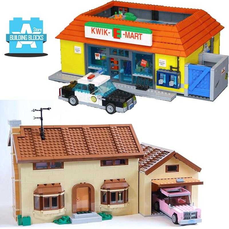 Casa modelo de juguete 71006 la serie Kwik E Mart 71016 Simpsons bloques de construcción para kits