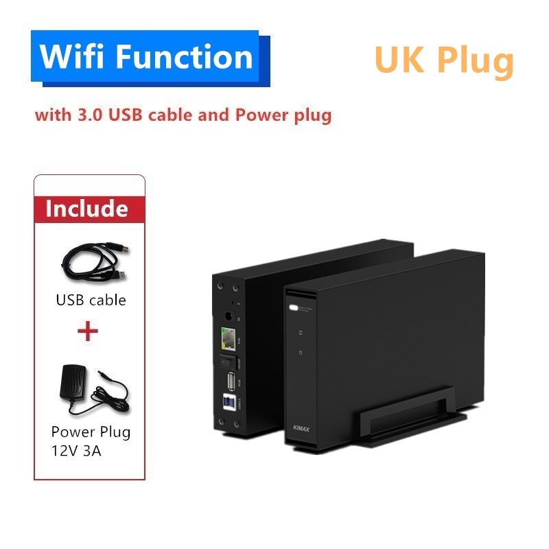 3.5 inch HDD Enclosure connect to router file share in LAN exclusive APP support Windows iOS Android MAC OS faster than WiFi