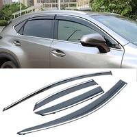 for lexus nx 2015 2020 car window sun rain shade visors shield shelter protector cover trim frame sticker