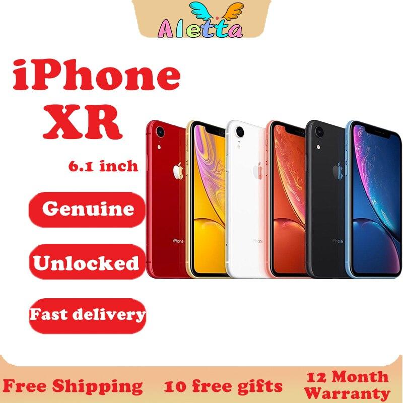 Unlocked Original Apple iPhone XR 6.1inch Face ID NFC RAM 3GB ROM 64GB/128GB/256GB Smartphone A11 Hexa-core Apple Pay Cellphone