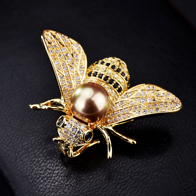 AliExpress - Famous Brand Design Insect Series Brooch Women Delicate Little Bee Brooches Crystal Rhinestone Pin Brooch Jewelry Gifts For Girl
