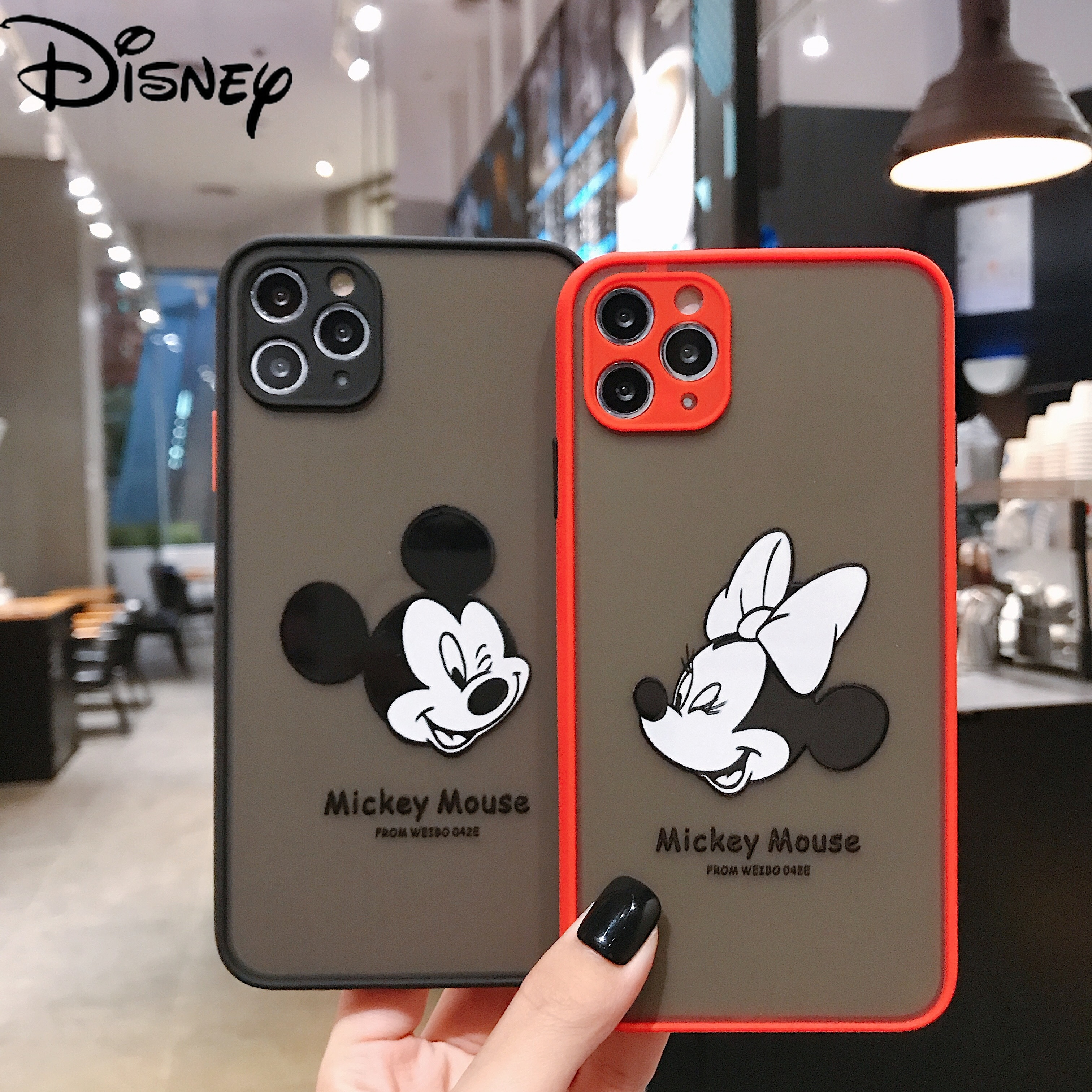 Disney for iPhone 7/8P / X / XRXS /MAX / 11/12 / Pro / 12min mobile phone mini mobile phone case cover 3D Stereo carving  - buy with discount