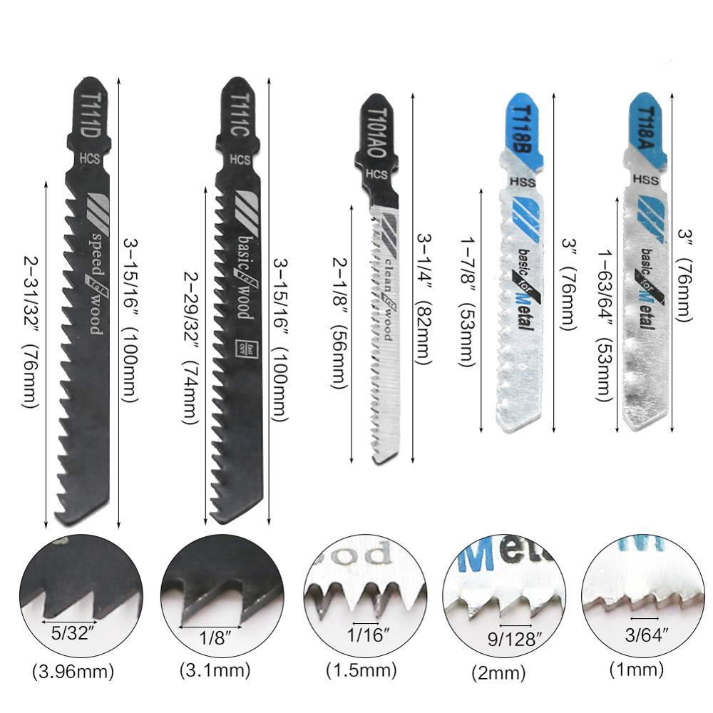 Confezioni da 10 pezzi Lama per seghetto alternativo HSS con denti - Punta da trapano - Fotografia 2
