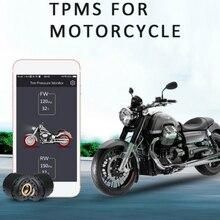 Sans fil Bluetooth 4.0 TPMS Moto externe pression des pneus surveillance capteur téléphone APP affichage Moto pneu Android IOS fonctionne