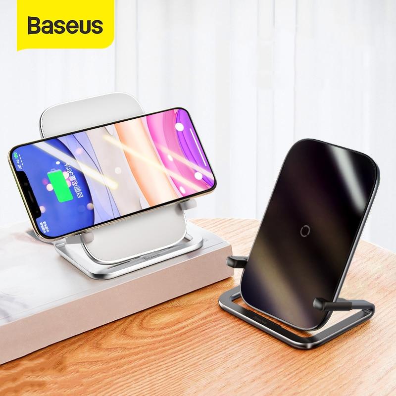 حامل شاحن لاسلكي QI من Baseus 15 وات لهاتف iPhone 12 Pro 11 X XS XR 8 سامسونج S10 S9 S8 شاومي حامل هاتف لاسلكي سريع الشحن
