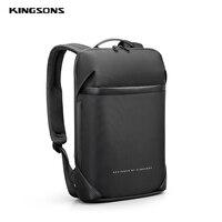Kingsons 15.6  Inch High Quality Laptop Backpack For Men Teenager School Bag Short Trip Backpacks Fit A4 Files New Mochila 2020