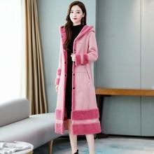 Winter Coat Real Abrigo Mujer Sobretudo 2019 New Winter Fashion Plus One Coat Female Long Paragraph Over The Knee Lambs Wool