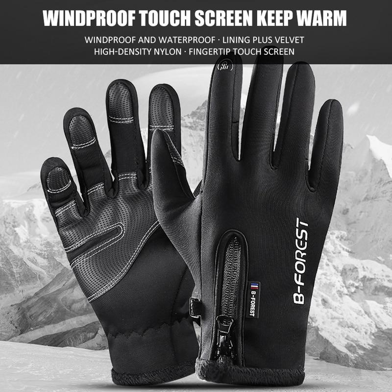 Guantes de ciclismo guantes de bicicleta hombres mujeres deportes pantalla táctil bicicleta antideslizante a prueba de golpes transpirable guantes calientes para deportes al aire libre