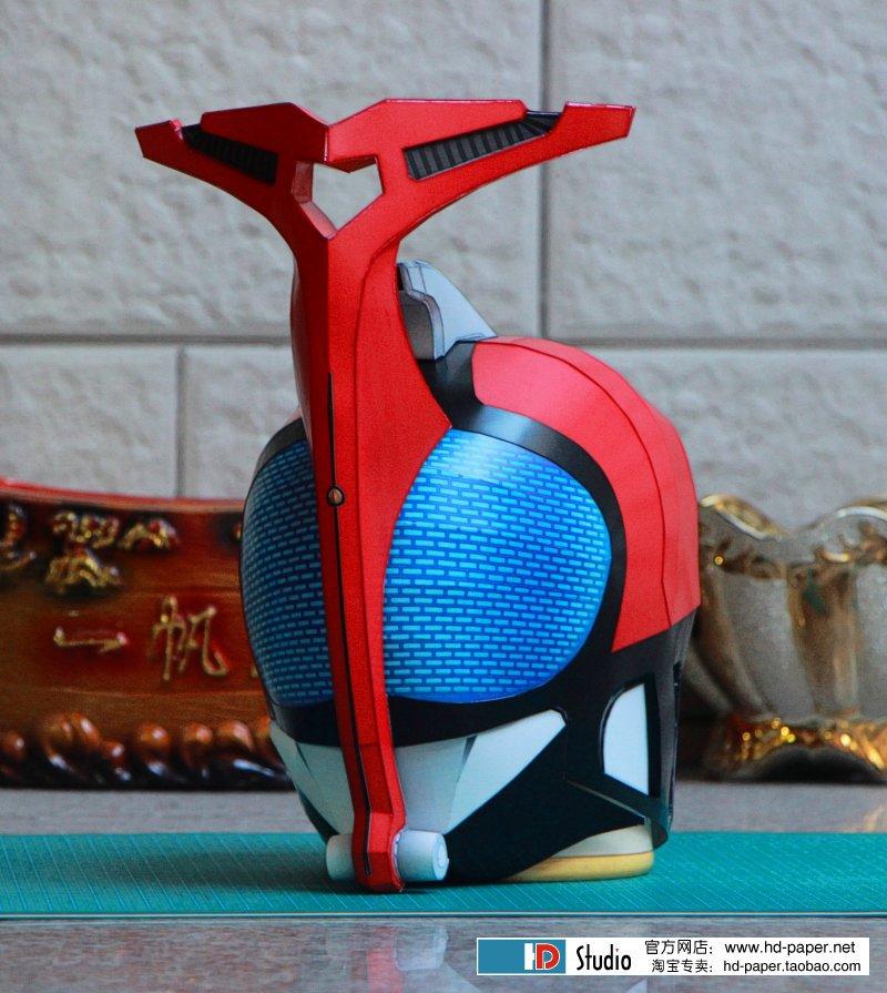 3D Paper Model Kamen Rider Helmet Cosplay 1:1 Wearable Model DIY Handmade Child Toys