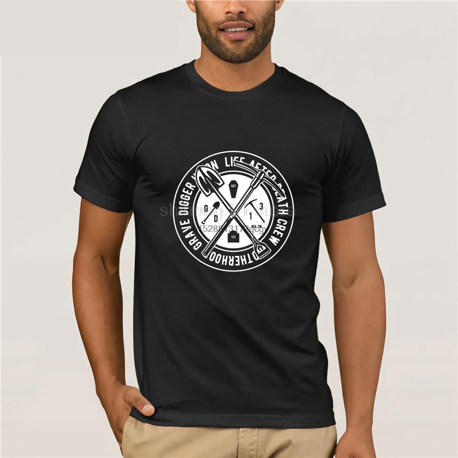Camiseta de algodón de 100% para hombre 2019, oferta barata de verano, camisetas de prealgodón para hombres, camiseta Unisex para excavadora de tumba, diseño de sitio web