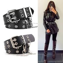 Unisex Jeans Belt Punk Gothic Belts For Women Men Waist Corset Cinturon Mujer Chain Ketting Riem Hig