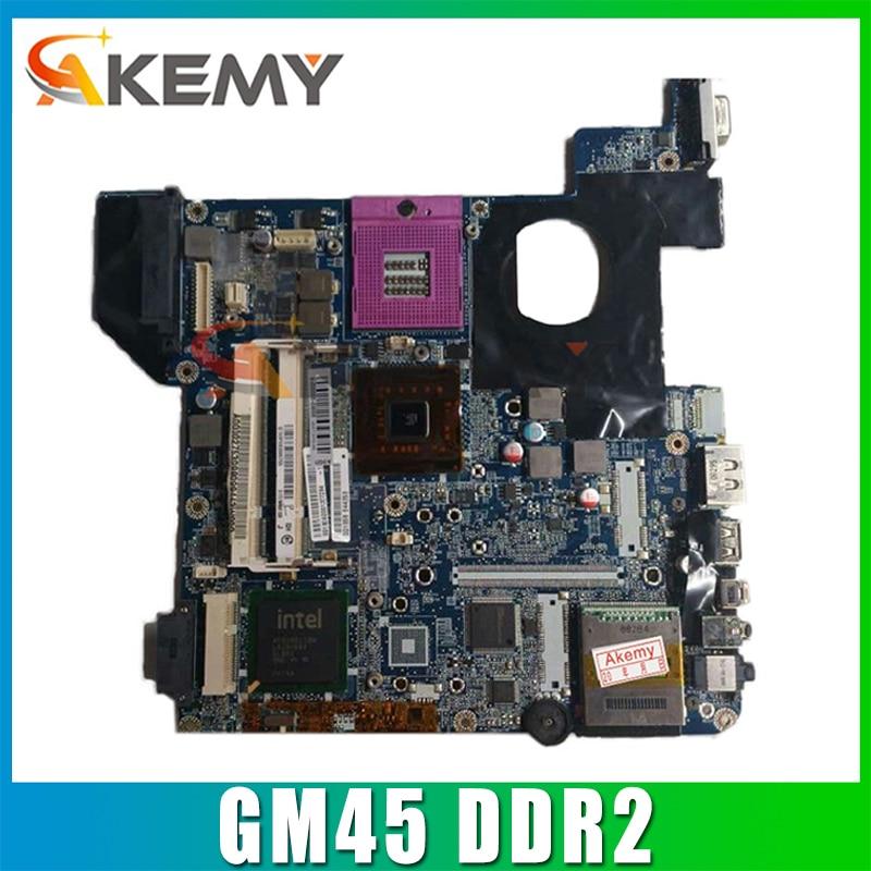 AKEMY A000060050 DATE1MMB8E0 اللوحة الرئيسية لتوتوشيبا الأقمار الصناعية U400 اللوحة الأم GM45 DDR2 مع فتحة الرسومات وحدة المعالجة المركزية الحرة