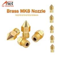 new 0 20 30 40 50 6mm brass mk8 nozzle set 3d printer extruder print head for makerbot ultimaker 3d printer 1 75mm