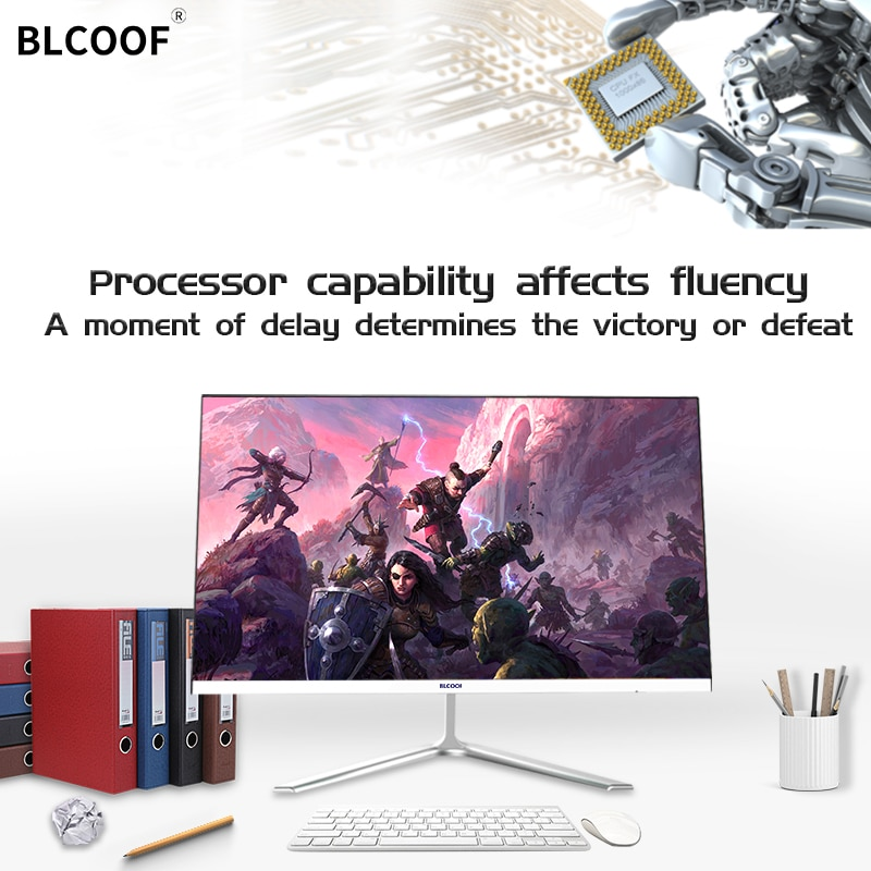 Ultra-thin all-in-one computer Corei5 Home Appliances 21.5 inch Inch Monitor desktop built in wifi Suitable for office  games