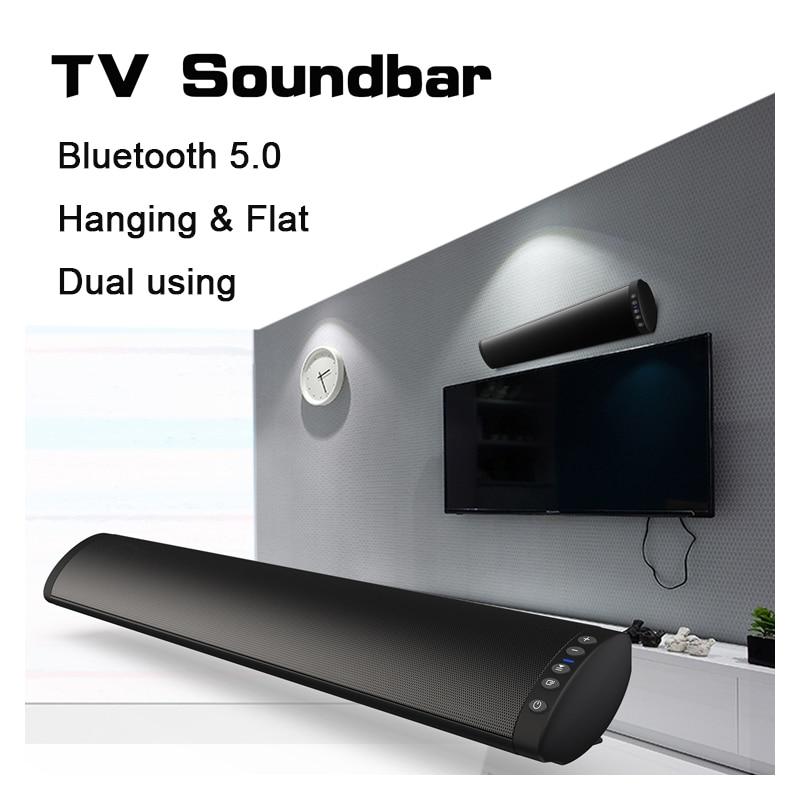 20W Home Theater Column  Bluetooth-compatible 5.0 FM Soundbar Wireless Speaker Surround Sound System Stereo Wall-Mounted Speaker enlarge