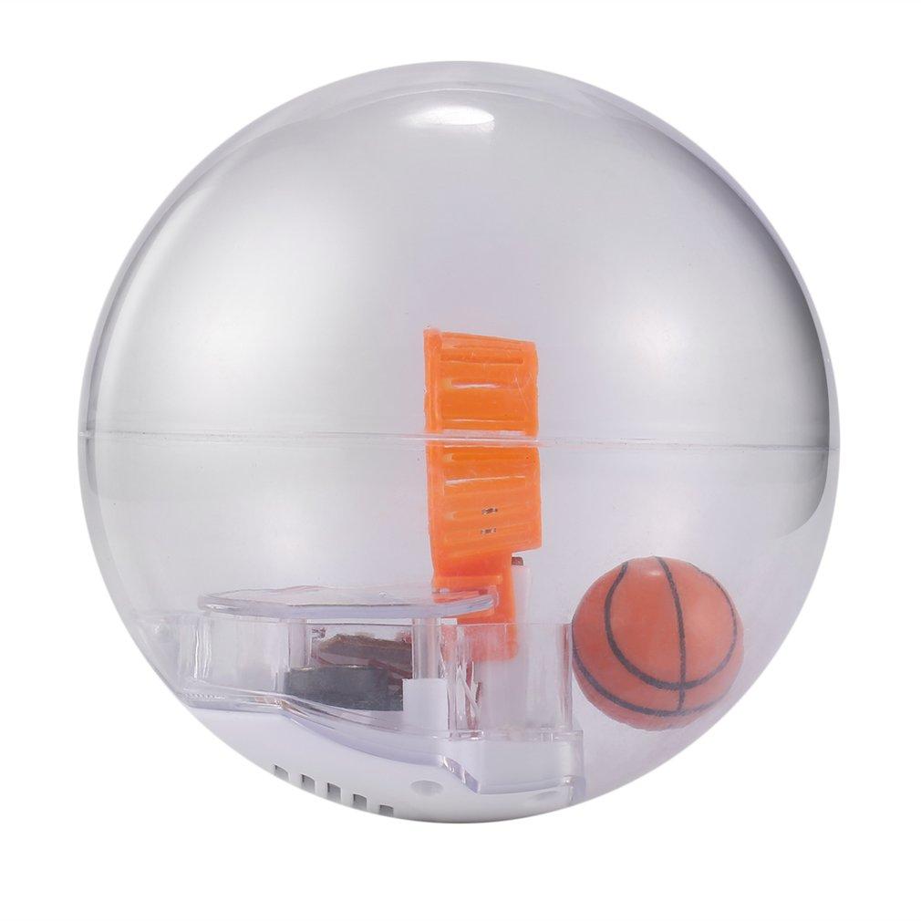 Juego de baloncesto electrónico para niños, juguete para reducir el estrés, máquina de práctica de baloncesto manual, disparar juguetes con luz LED y música