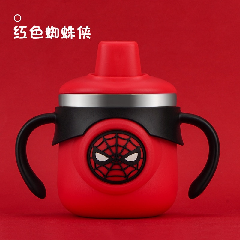 Disney Mickey Mouse Spider-Man Captain America Anti-fall Milk Cup Water Cup Stainless Steel Duckbill Cup Children's Water Cup