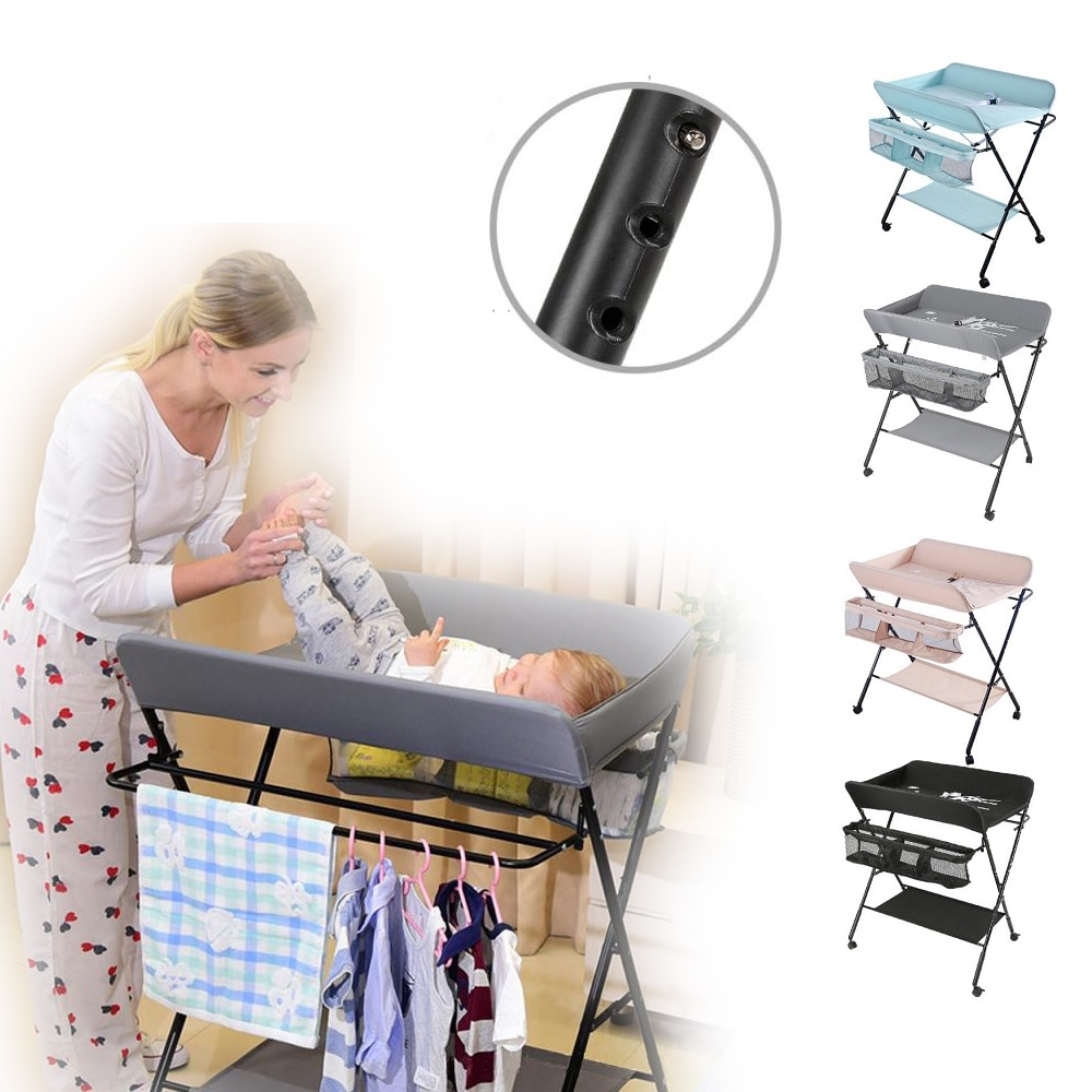 Foldable Style Baby Infant Newborn Changing Table Mobile Nursery Diaper Station For Baby Under 3 Years Baby Care Supplies HWC