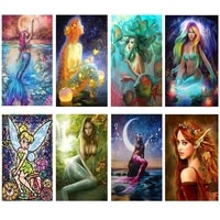 new 5d diy diamond painting mermaid picture full drill embroidery mosaic cross stitch kit home decoration holiday gift