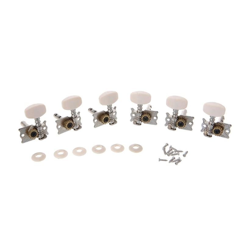 6pcs Classical Guitar Tuning Pegs Single Tuners Keys String Machine Heads Parts недорого
