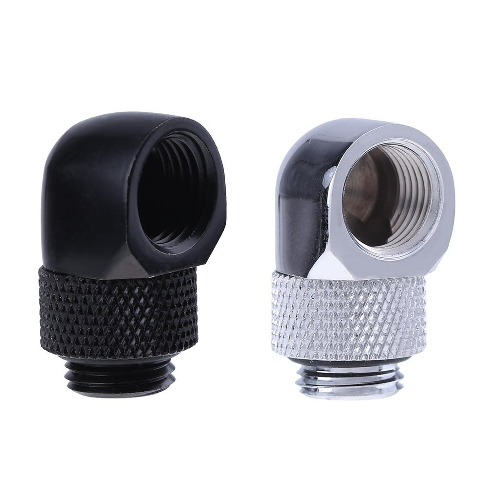 G1/4 Inner Outer Dual Thread 90 Degree Rotary Water Tube Connector Adapter PC Water Cooling Systerm Tube Adapter