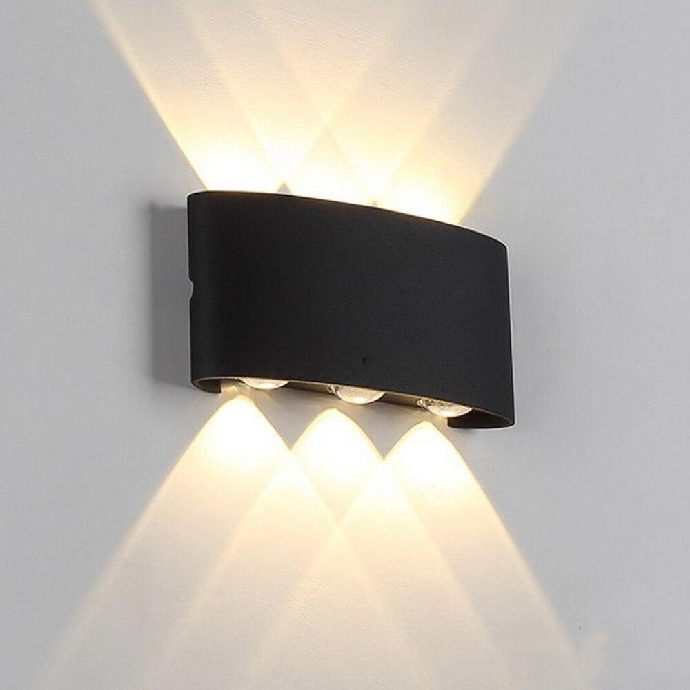 IP65 LED Wall Lamp Outdoor Waterproof Garden Lighting LED Aluminum 4W/6W/8W Indoor Bedroom Living Room Stairs Wall Light