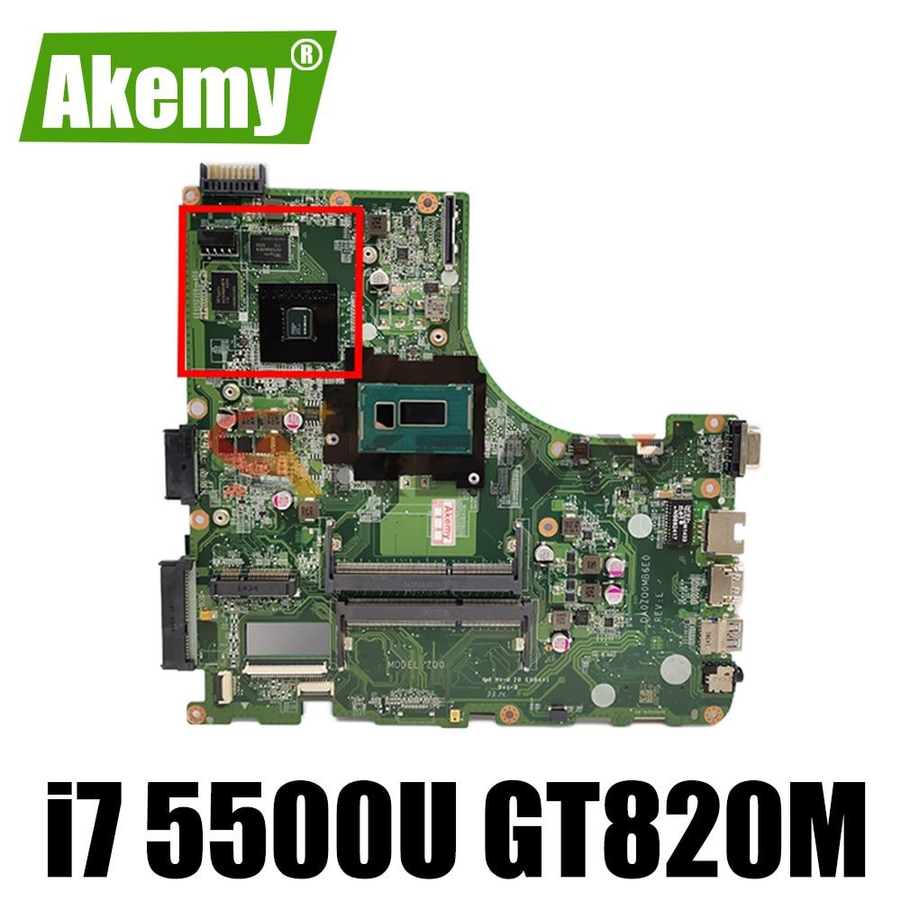 Akemy DA0ZQ0MB6E0 ZQ0 اللوحة لشركة أيسر E5-471 E5-471G V3-472P اللوحة المحمول وحدة المعالجة المركزية i7 5500U GT820M 2G 100% اختبار العمل