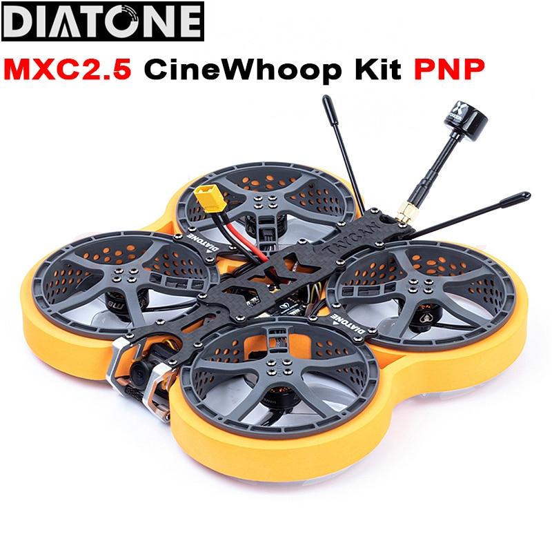 Diatone MXC2.5 TAYCAN Cinewhoop PNP CADDX bebé RATEL Kit de Marco RC FPV Drone con MAMBA F411 25A AIO TX400 VTX para Quadcopter