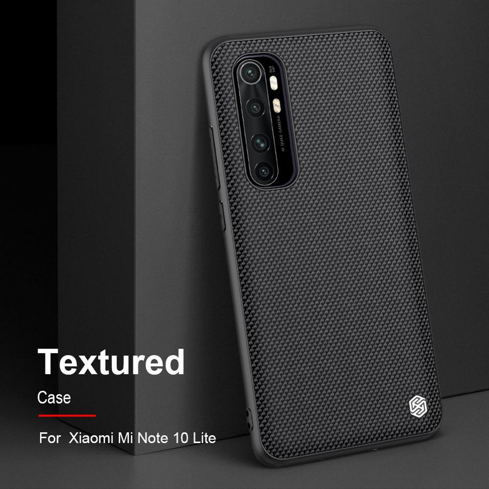 Funda Xiaomi mi Note 10 Lite Funda NILLKIN texturizada de fibra de Nylon Funda trasera duradera antideslizante para mi Note 10 Lite Funda