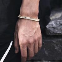 2,5*5 мм Homme теннис браслеты серебряного цвета фианит браслет для женщин и мужчин сверкающая цепь браслет панк CZ ювелирное изделие