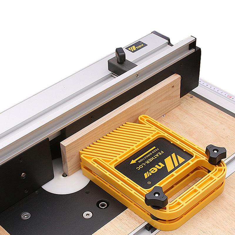 Alargar el tablero de ubicación de la pluma para la máquina de grabado Flip Sierra de mesa mitón de banda herramientas de carpintería