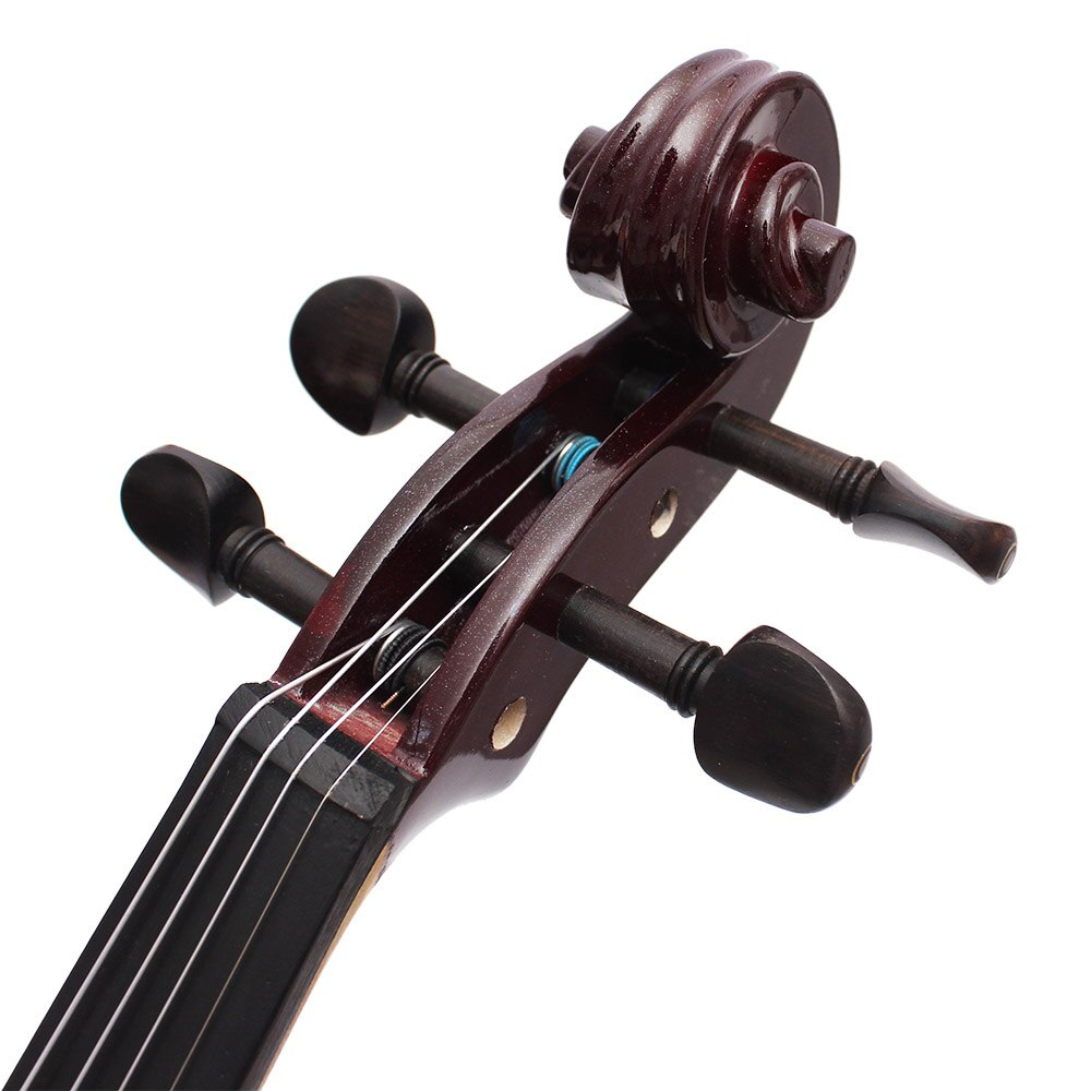 4/4 Electric Silent Violin Wine Red Bilateral Fiddle Stringed Instrument With Accessories Case Cable Headphone For Music Lovers enlarge