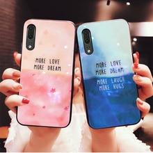Pour Samsung Galaxy A71 A51 étui couture couleur verre trempé protection dure couverture de téléphone pour Samsung A51 A71 A70 A70S boîtier
