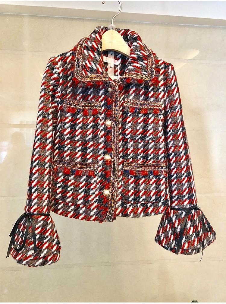Ternos femininos pista de luxo designers elegantes senhoras escritório formal tweed blazer casaco mini saia 2 peça define inverno