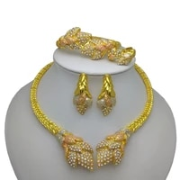 kingdom ma dubai gold color jewelry sets for women african necklace earrings bracelet rings for party wedding bridal accessories