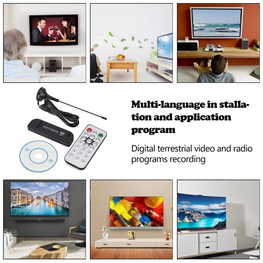 Sdr + Dab + Fm Tv DVB-T Rtl2832U + R820T2 tarjeta de Tv receptor Usb 2,0 sintonizador de Tv Digital Usb Fm + Dab + DVB-T + Sdr Dongle Stick