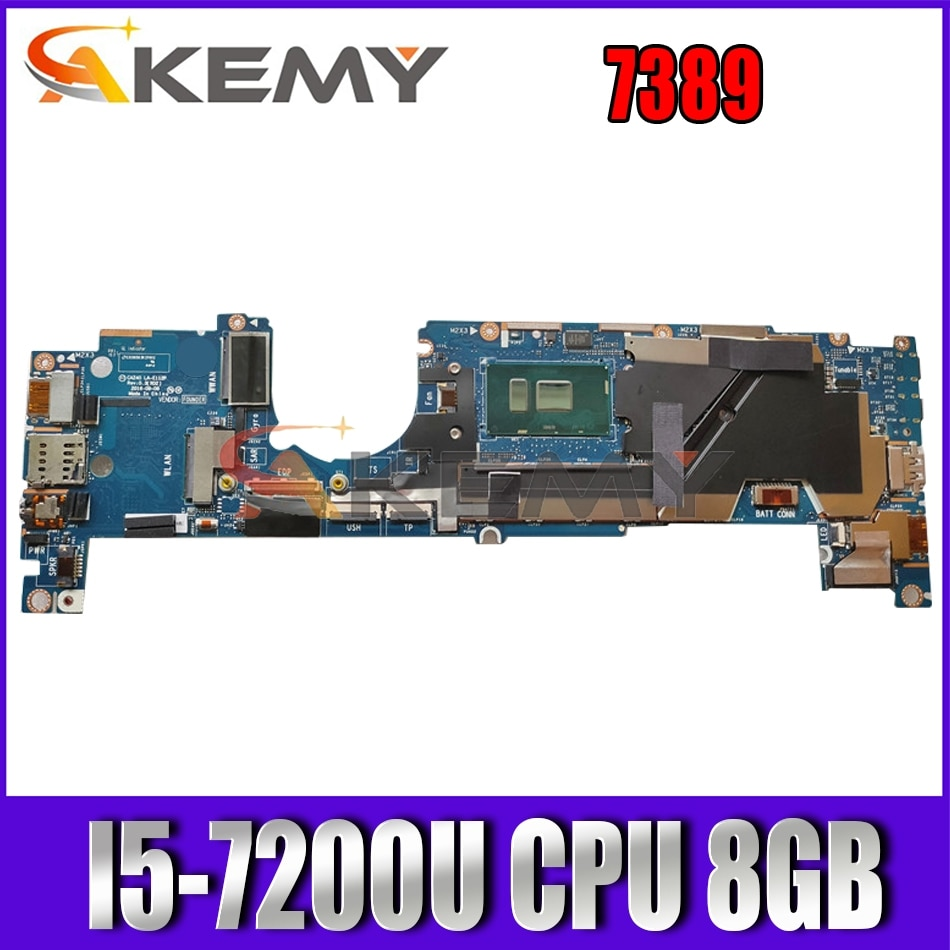 Akemy العلامة التجارية الجديدة CAZ40 LA-E111P I5-7200U 8GB لديل خط العرض 7389 2in1 اللوحة الأم للكمبيوتر المحمول CN-0T8RNM T8RNM اللوحة الرئيسية 100% اختبارها