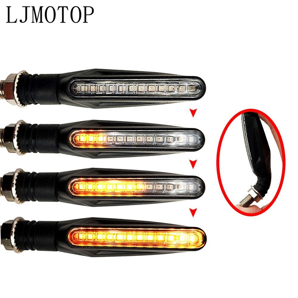 Para DUCATI MULTISTRADA 1200/S/GT 1199 Panigale/S/TRicoloR luces de señal de giro para motocicleta accesorios de lámpara de señal intermitente