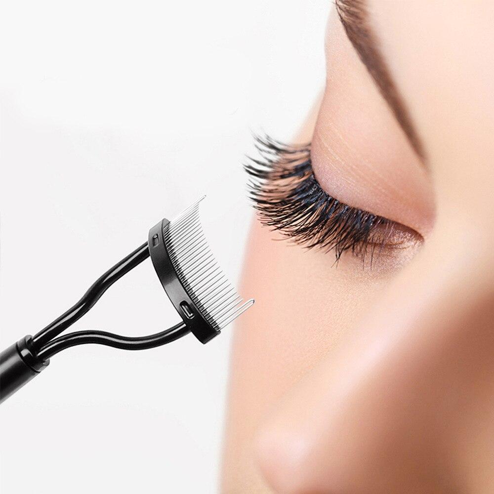 Eyelash Curler Metal Eyelash Comb Brush Mascara Lift Curl Eye Lash Separator Applicator Mascara Lift