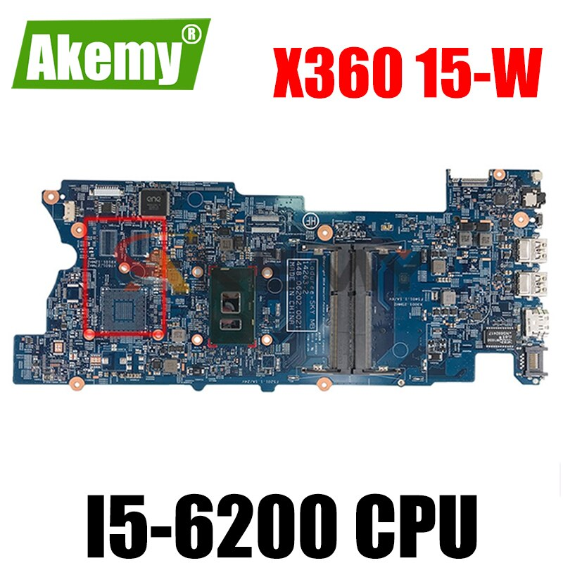 Akemy جديد ل hp X360 15-W 15-BK اللوحة 849137-601 849137-501 849137-001 14263-2 448.06203.0021 i5-6200 اختبار جيدا