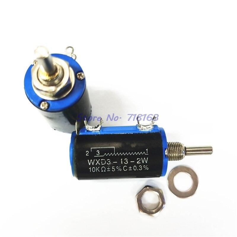 1 шт./лот WXD3-13 2 Вт потенциометр + 1 ручка 100 200 220 470 680 1 к 2,2 к 3,3 к 4,7 к 5,6 к 6,8 к 10 к 22 к 33 К 47 к 100 к ом WXD3-13-2W