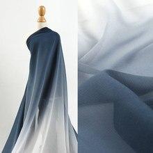 50cm*148cm Gradient Translucent Fabric Soft Breathable High Drape Wedding Dress Skirt Fabric
