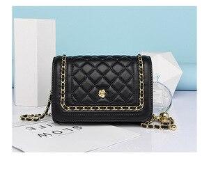 Women's Bag New 2021 Summer Fashion Small Fragrant Rhombus Chain Bag Quality Shoulder Diagonal Bag Tide