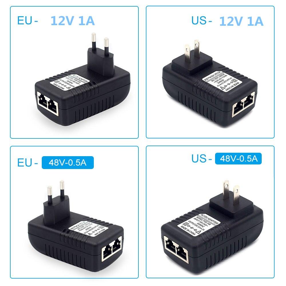 POE Adapter CCTV Camera POE Injector DC12V/DC48V Power Supply Over Ethernet Injector Adapter EU/UK/US Optional enlarge