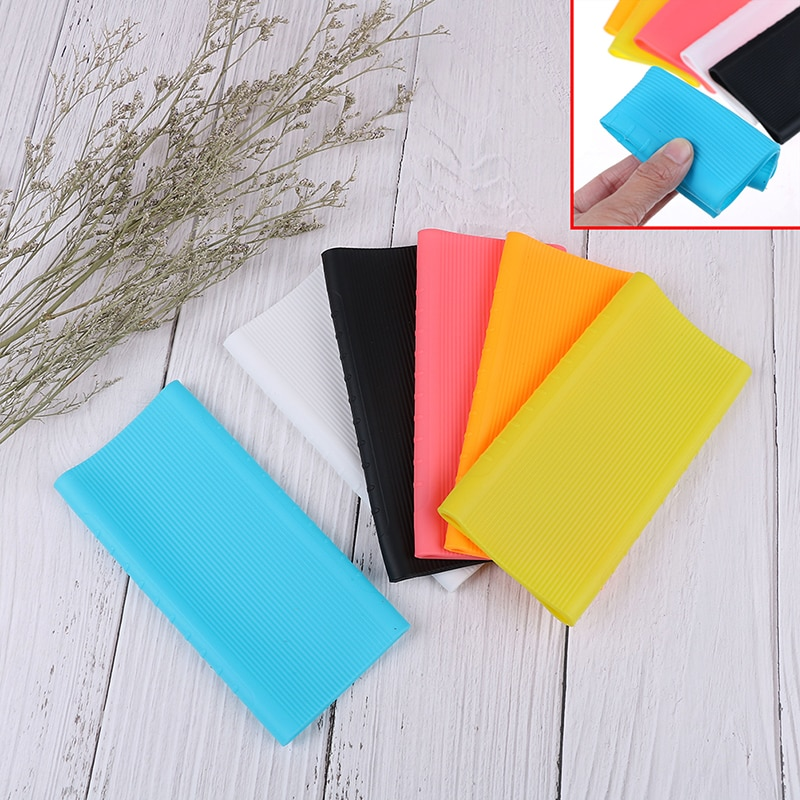 Silicone Power Bank Protector Case Cover For Xiaomi Power Bank 2 Generation 10000 mAh Dual USB Port