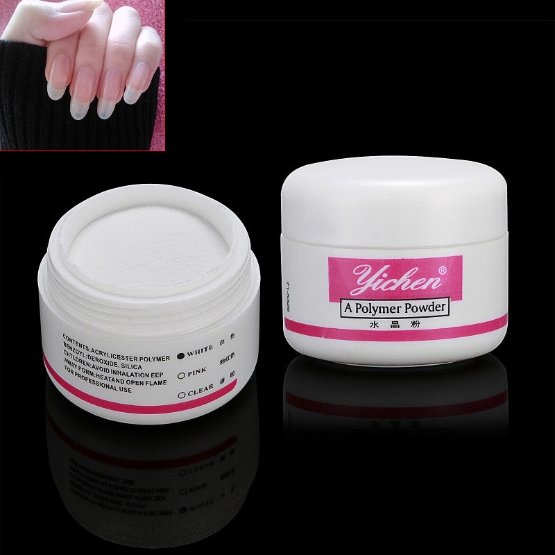 AliExpress - 3colors Acrylic Powder 3D Nail Glitter Clear Pink White Crystal Powder Manicure Pigment Dust Polish Acrylic Powder for Nail