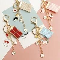 new corgi keychain metal lovely unicorn rabbit backpack handbag car key airpods accessories pendant keyring hot sale fine gift