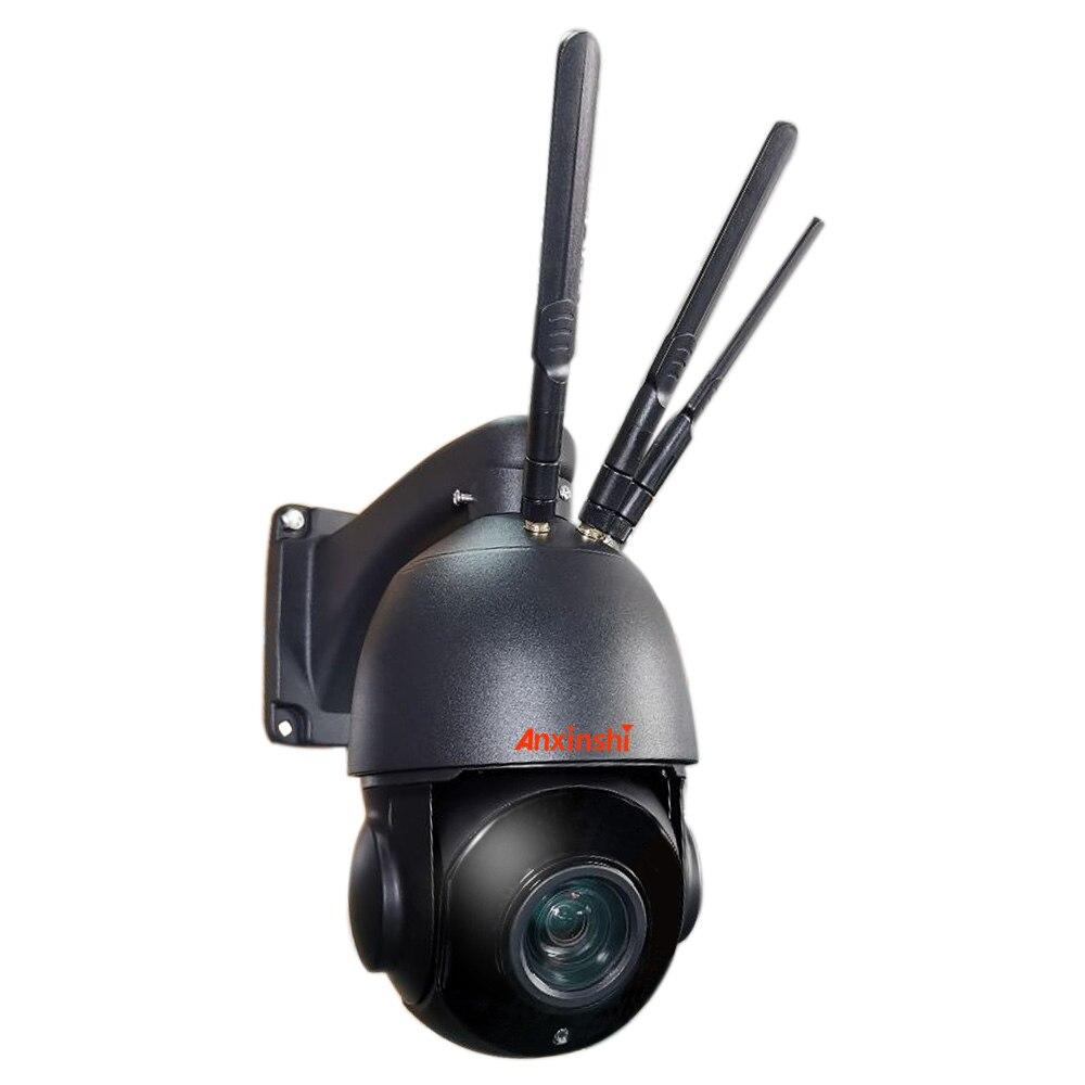 أسود اللون 5.0MP 20X Starlight 4G واي فاي كاميرا متحركة في الهواء الطلق اللاسلكية 3G 4G كاميرا IP 4G 3G كاميرا الأمن